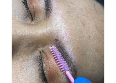 feather brow tattoo