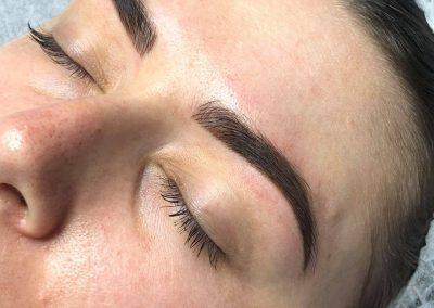 henna eyebrow tattoo